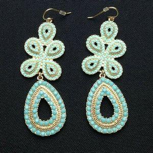 STELLA & DOT Faux Turquoise Stone Ear Rings